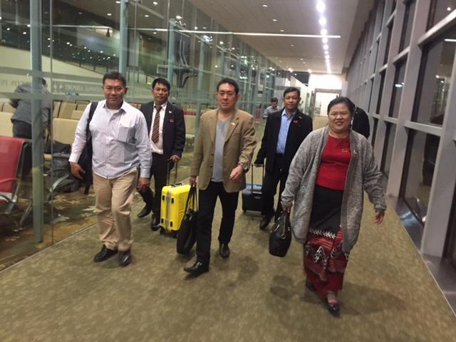 12月18日 国務大臣タニンダリー管区首相らと日本到着
